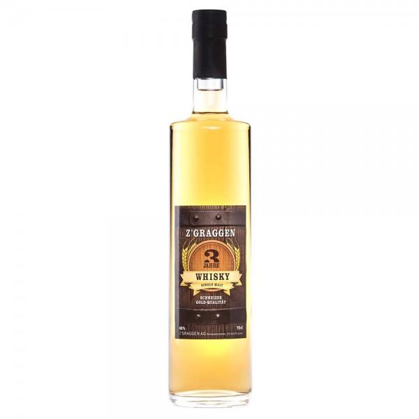 Z'GRAGGEN Single Malt Whisky 3-jährig, 40 Vol.-%
