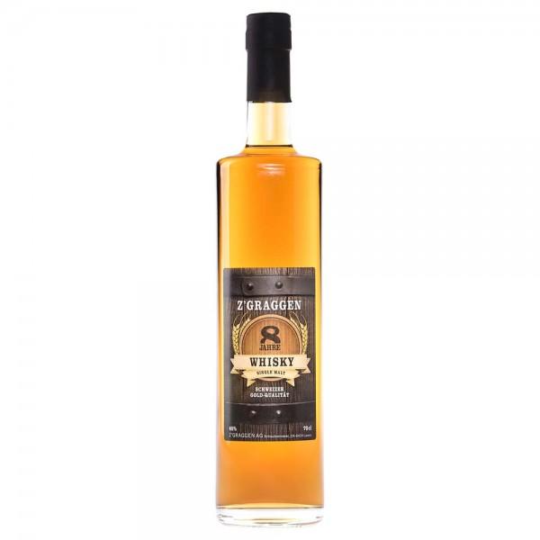 Z'GRAGGEN Single Malt Whisky 8-jährig, 40 Vol.-%